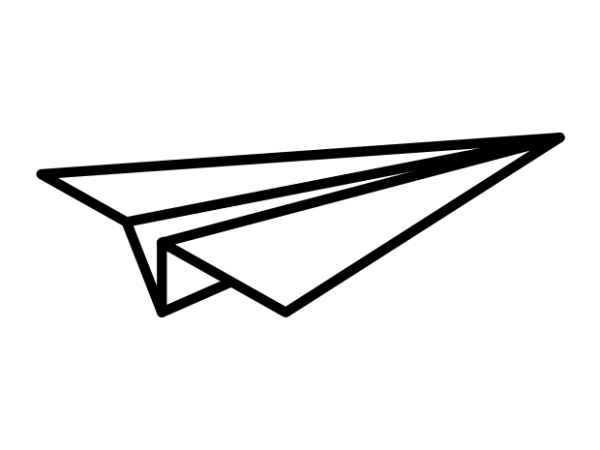 Minimal Paper Airplane Tattoo Vector T Shirt Design