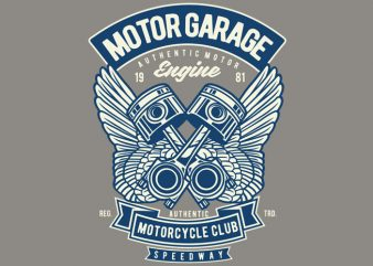 Motor Garage t shirt designs for sale