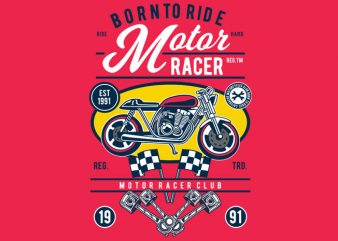 Motor Racer buy t shirt design
