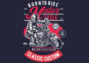 Motorcycle Rider t shirt designs for sale