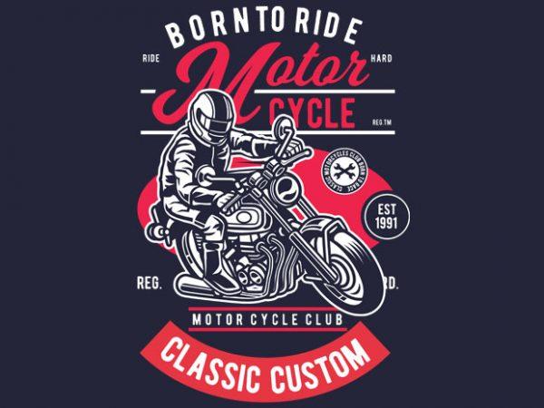 Motorcycle Rider buy t shirt design