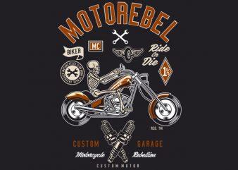 Motorebel Skull buy t shirt design