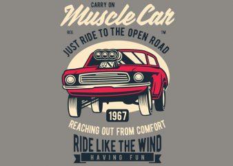 Muscle Car buy t shirt design