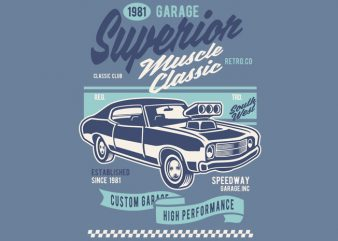 Muscle Car Classic t shirt designs for sale