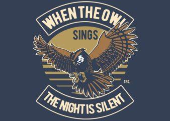 Owl buy t shirt design