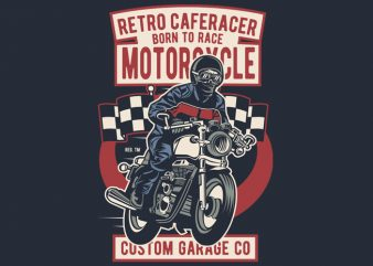 Retro Caferacer buy t shirt design