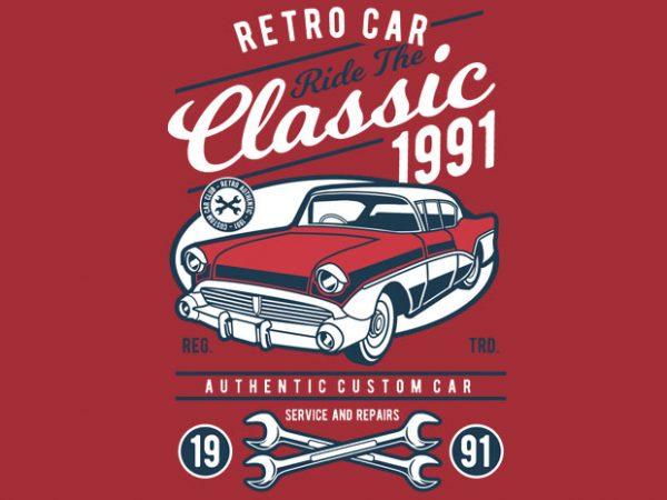 Retro Classic Car buy t shirt design
