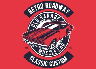 Retro Roadway t shirt design online