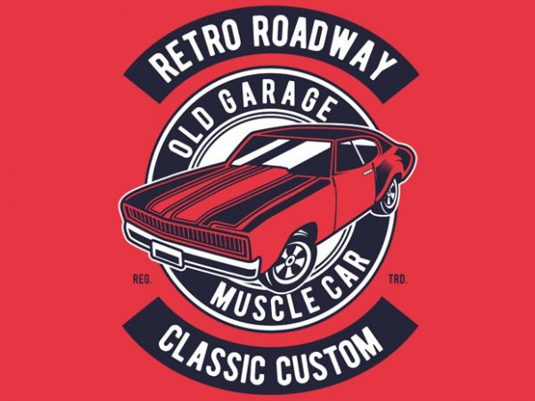 Retro Roadway buy t shirt design