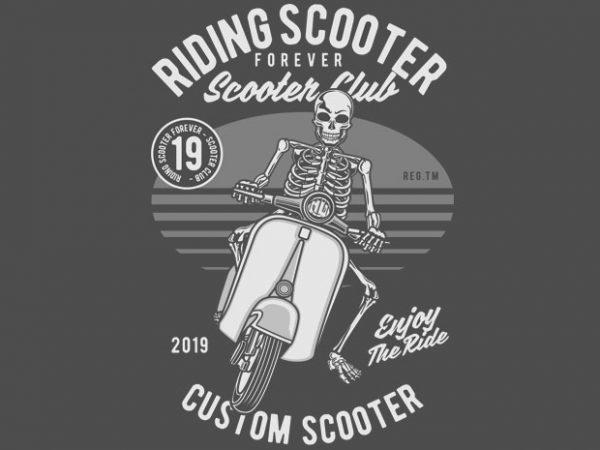 Riding Scooter t shirt design online