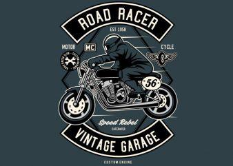 Road Racer t shirt vector