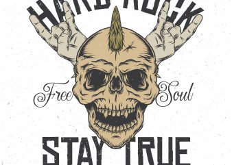 Stay true. Vector T-Shirt Design