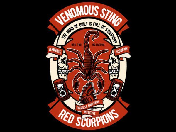 Scorpion buy t shirt design