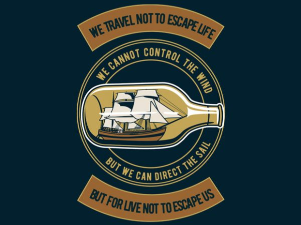 Ship in The bottle buy t shirt design