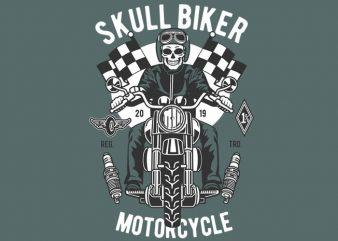 Skull Biker buy t shirt design