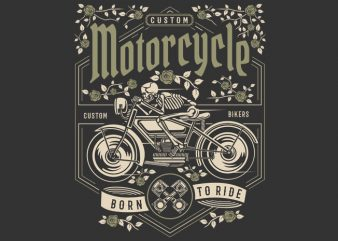 Skull Motorcycle t shirt template vector
