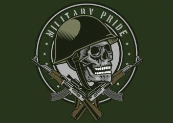 Skull Soldier t shirt template vector
