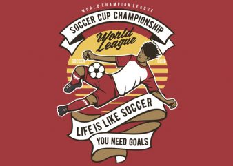 Soccer Cup Championship buy t shirt design