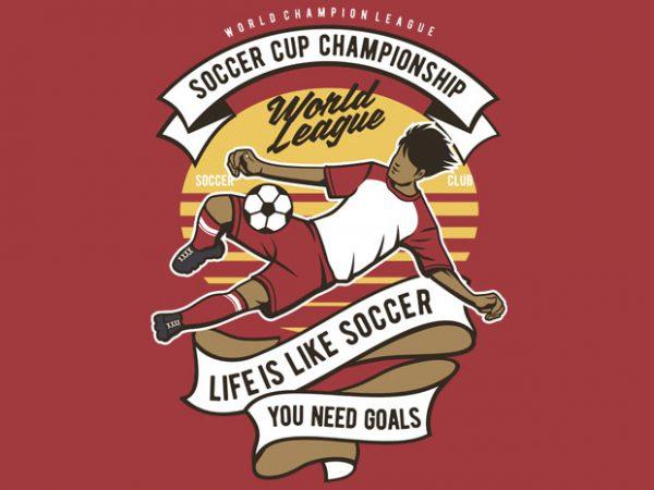 Soccer Cup Championship buy t shirt design