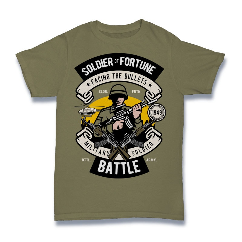 Soldier buy t shirt design