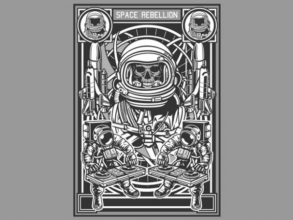 Space Rebellion t shirt template vector