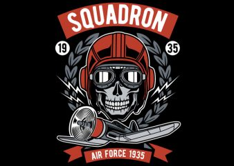 Squadron Air Force t shirt template vector