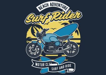Surf Rider t shirt template