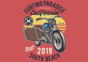 Surfboard Ride t shirt vector