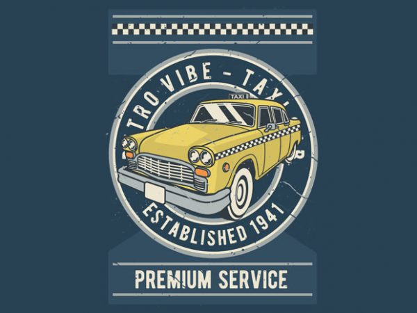 Taxi t shirt designs for sale