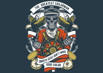 The Greatest Sailorman buy t shirt design
