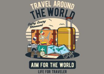 Travel Around The World t shirt designs for sale