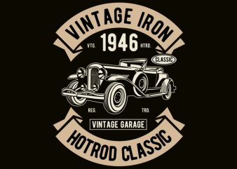 Vintage Iron Classic t shirt vector art