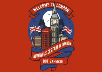 Welcome To London t shirt design for sale
