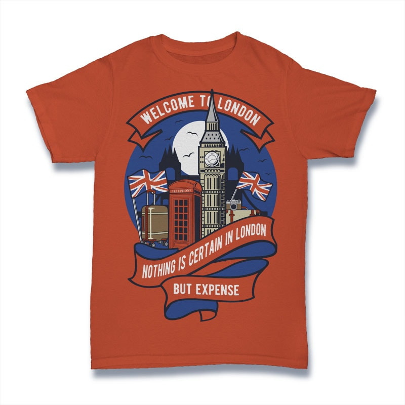Welcome To London buy t shirt design