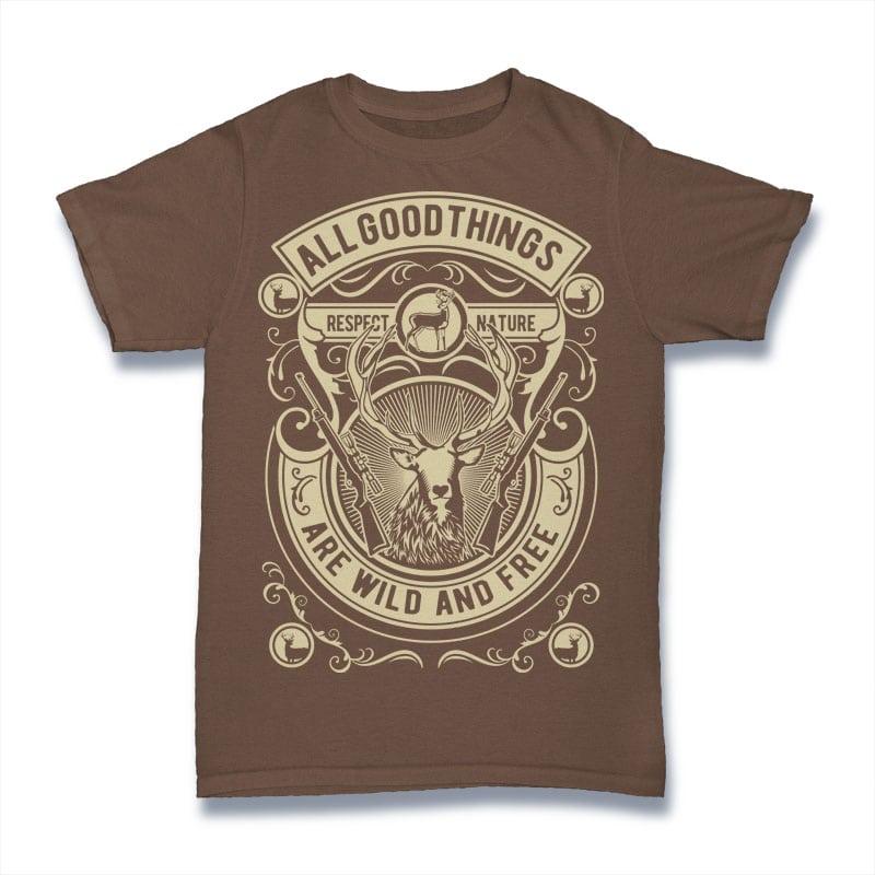 Wild And Free buy t shirt design