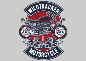 Wild Tracker t shirt design for sale