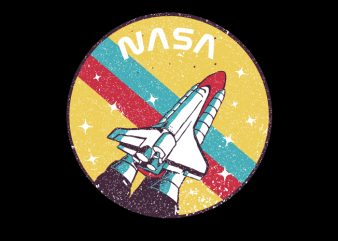 USA Space Agency Vintage t shirt template