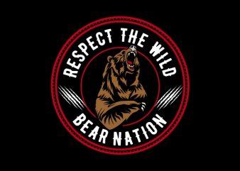 bear nation t shirt template