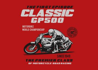 classic gp 500 t shirt vector file