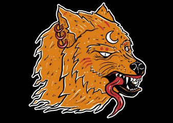 cult wolf t shirt vector file
