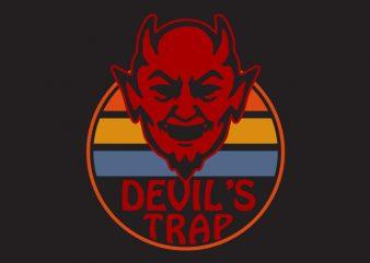 devils trap t shirt vector illustration