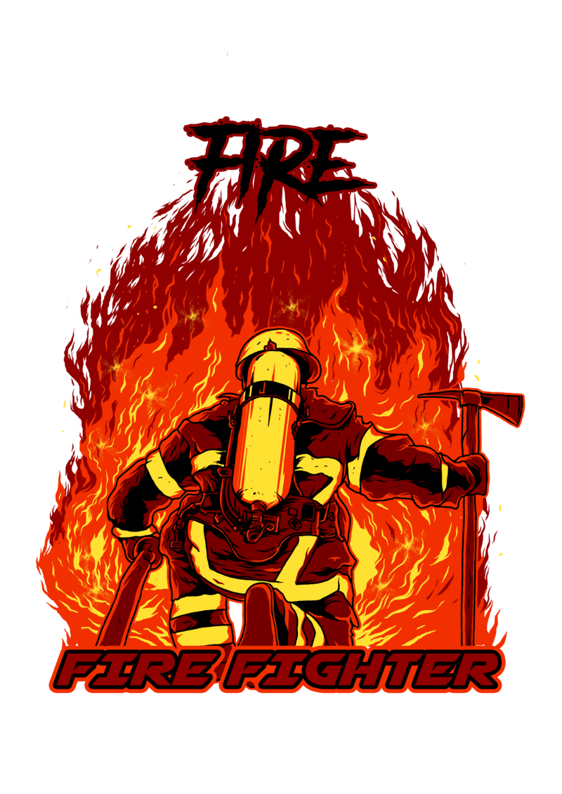 fire fighter buy t shirt design