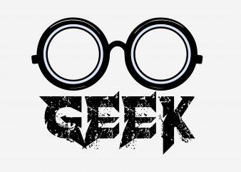 Geek t shirt design template