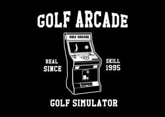 golf arcade t shirt design template