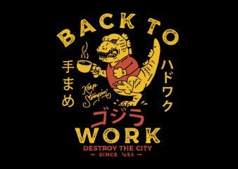 Hardwork Monster buy t shirt design