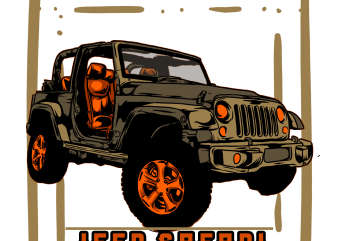 jeep safari t shirt template