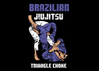 jiu jitsu triangle move vector clipart