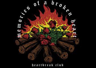 memories of a broken heart buy t shirt design