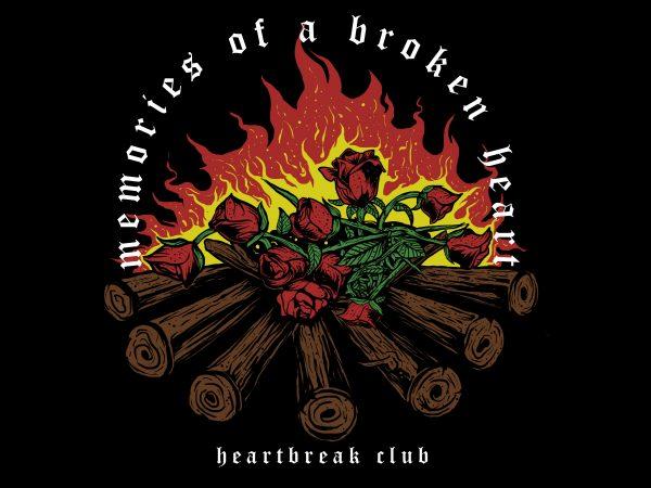 memories of a broken heart t shirt designs for sale