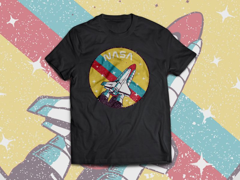 USA Space Agency Vintage buy t shirt design
